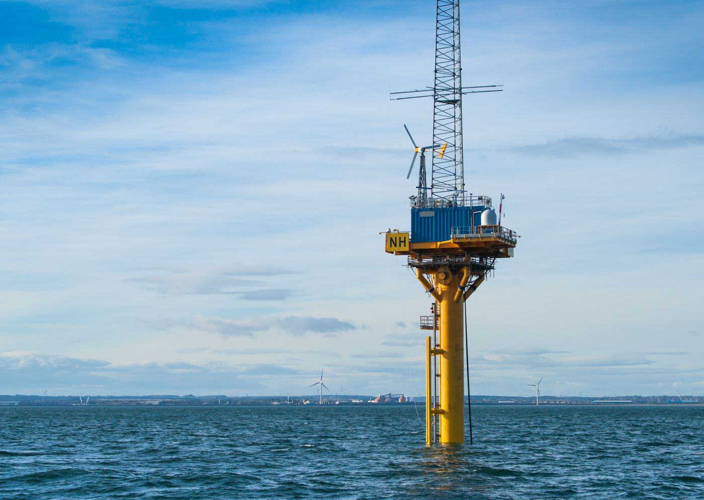The Catapult's National Offshore Anemometry Hub (NOAH), off the coast of Blyth, Northumberland.